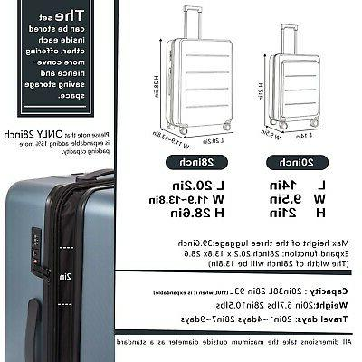 COOLIFE Suitcase Set Carry Spinner with