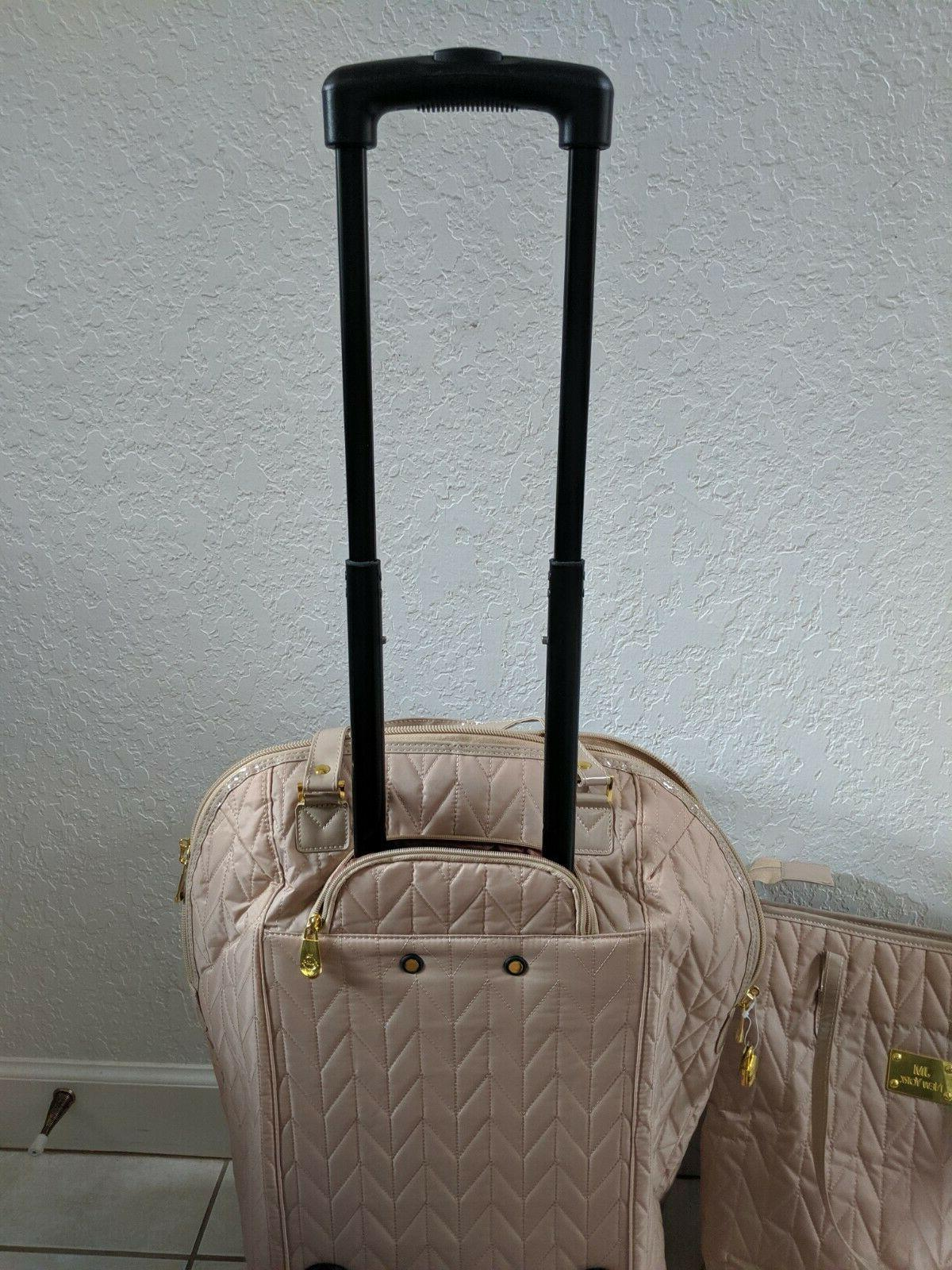 JOY MANGANO ALL TRAVEL EASE, PIECE SET, CREAMY LUGGAGE