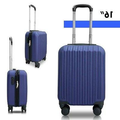 Set 4 Lightweight Luggage Travel Rolling Suitcases