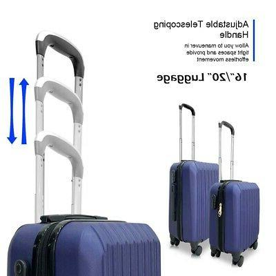 Set of Lightweight Luggage ABS Rolling Spinner Suitcases