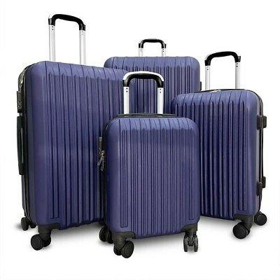 Set 4 Lightweight Luggage Set ABS Rolling Shell Suitcases
