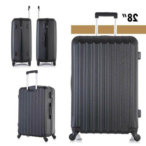 "Travel Luggage Set 4PCS Trolley Spinner Suitcase 16""20""24""28"" ABS"