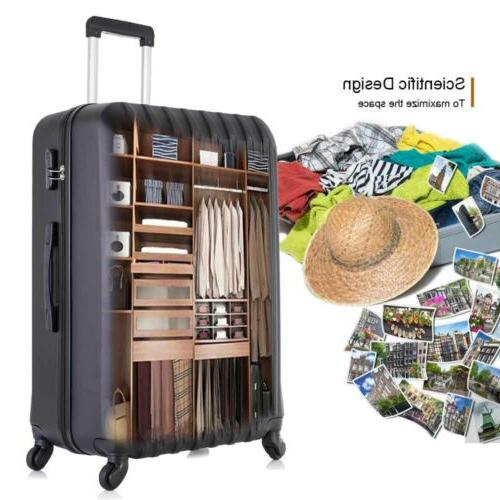 "Travel Luggage Trolley 16""20""24""28"" Black"