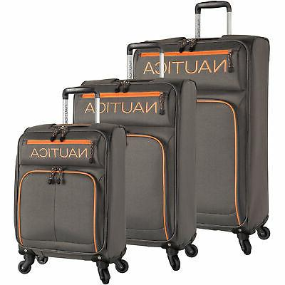 montrose 3 piece expandable spinner luggage set