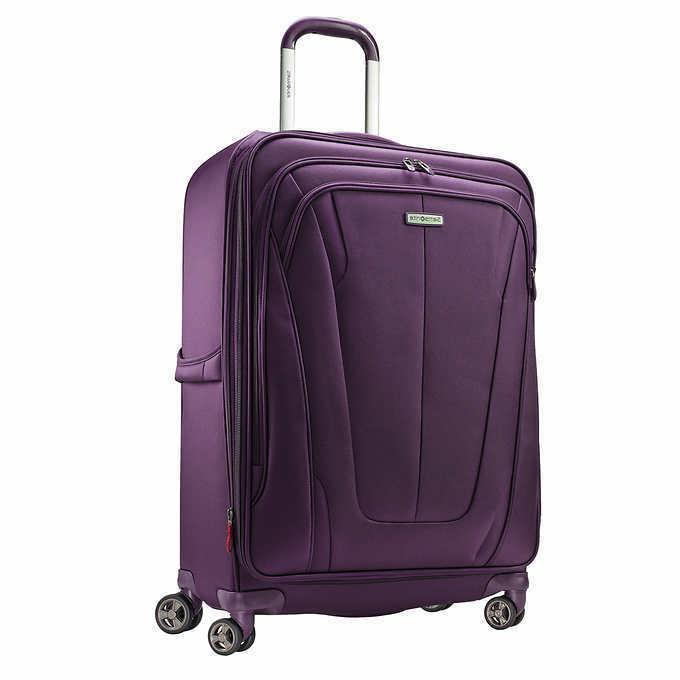 NEW Gray Dual 2-piece Suitcase