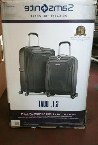 NEW Gray Dual Suitcase