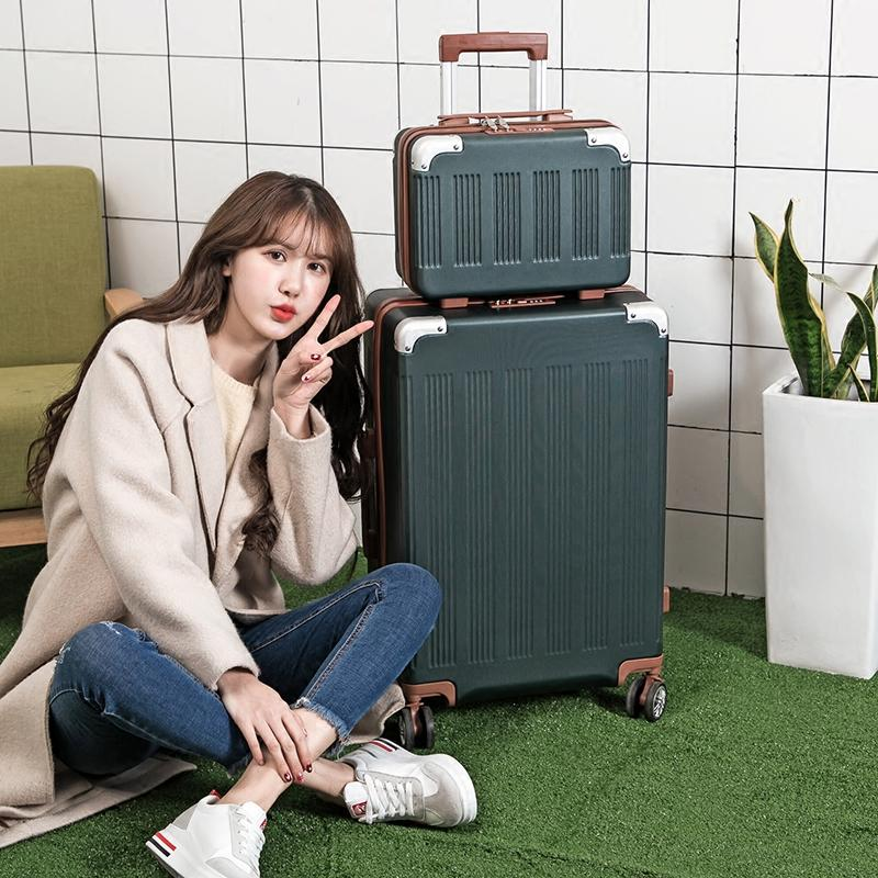 New Rolling <font><b>set</b></font>,Travel <font><b>Luggage</b></font> with ,Women Trolley Case with Wheel, ABS Box
