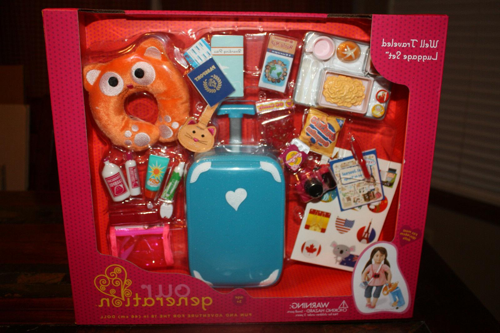 new travel and luggage set american girl