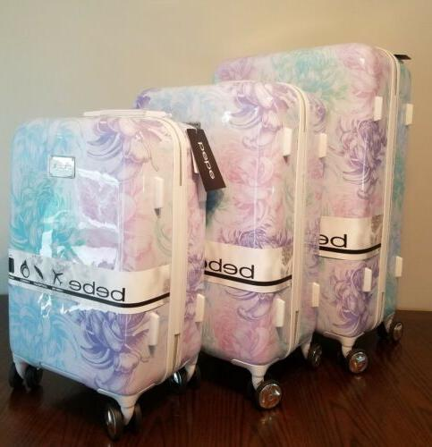 Spinner Luggage Floral Suitcase 29