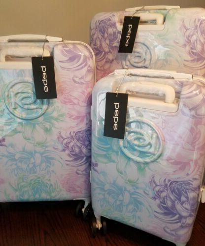 NWT! Mila Spinner Luggage Hard Case Floral Suitcase 21 25 29