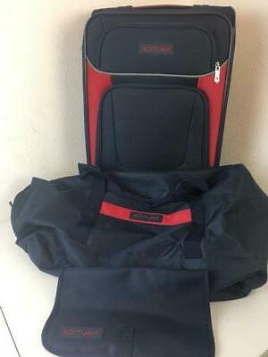 oceanview 3 piece luggage set navy red