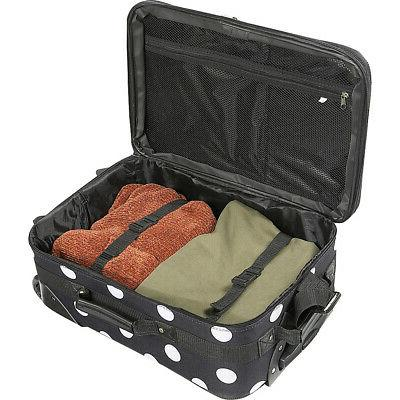 Rockland Polka Dot 4-Piece Luggage Set