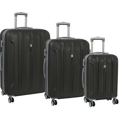 proteus 3 piece hardside expandable spinner luggage