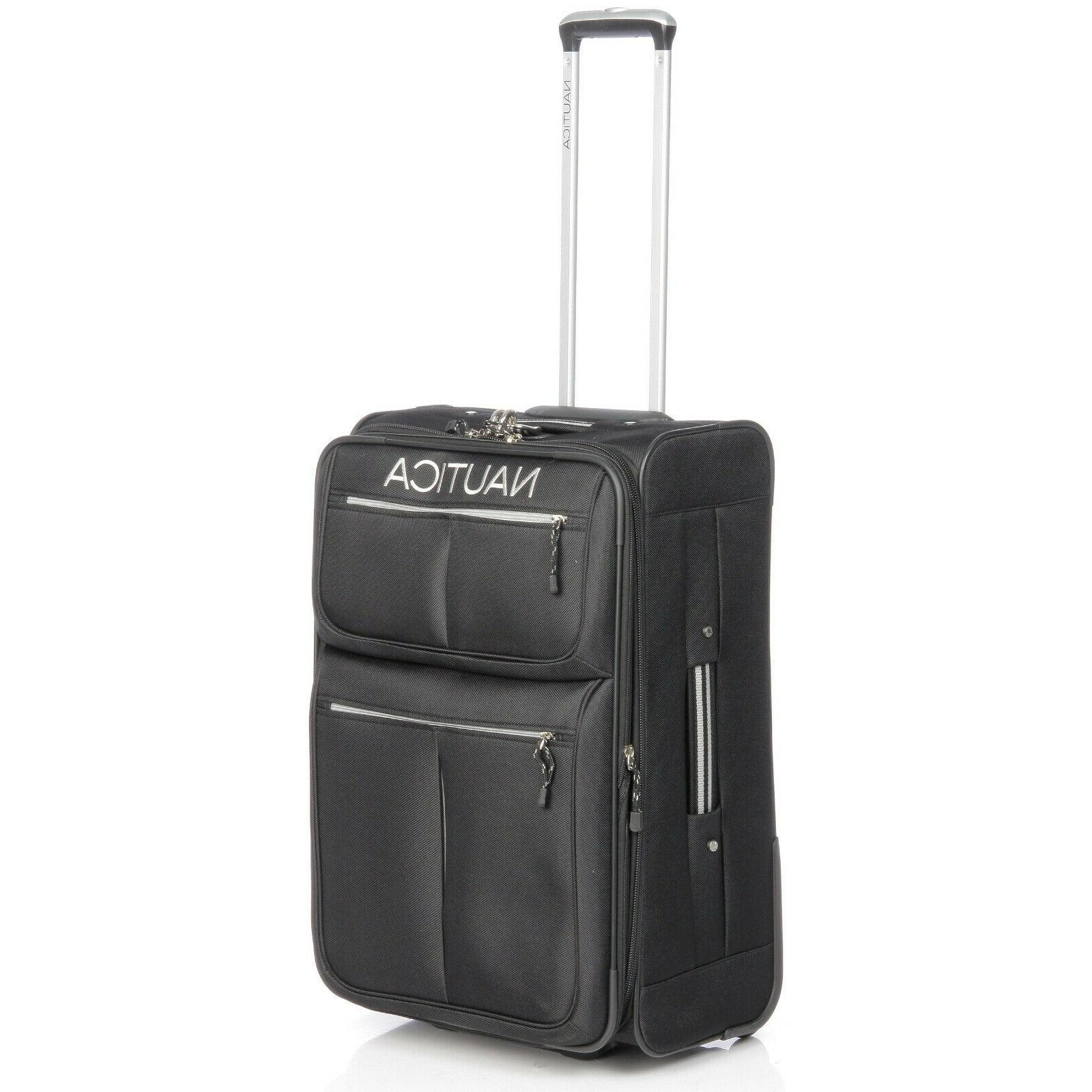 Rare Nautica® II 4-Piece Expandable Rolling Set - Black/Silver