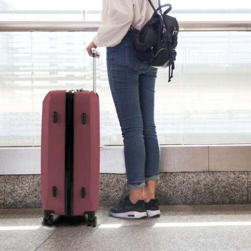 Red Piece Luggage Light Case Suitcase
