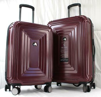 DELSEY REFLECTION 2 PIECE HARDSIDE SPINNER LUGGAGE SET BURGU