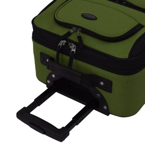 U.S. Traveler Expandable Carry-On Luggage Green, 1