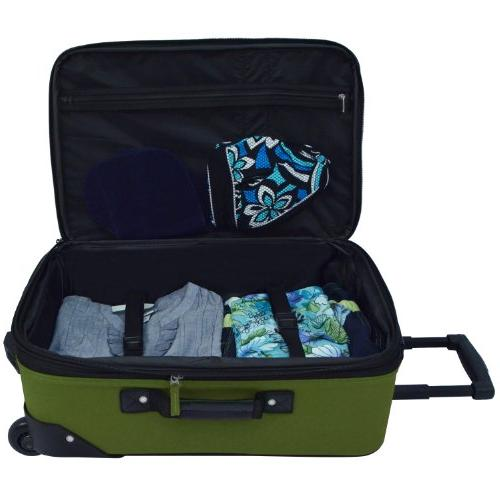 U.S. Expandable Carry-On Luggage Green, ea