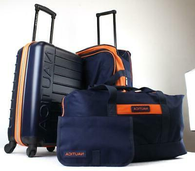 NAUTICA TIDE 4 PC. SPINNER LUGGAGE NAVY