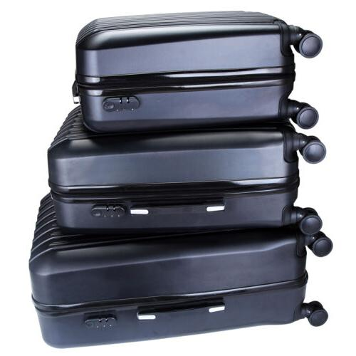 "3PCS Travel Bag Suitcase With Lock 20"" 24"" 28"""