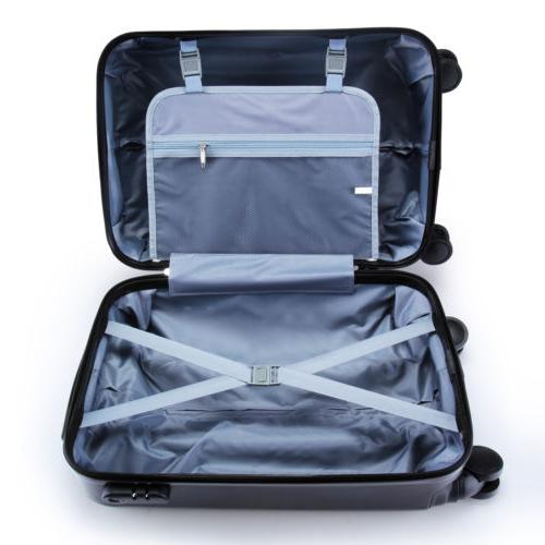 3PCS Bag ABS Trolley Suitcase 24""