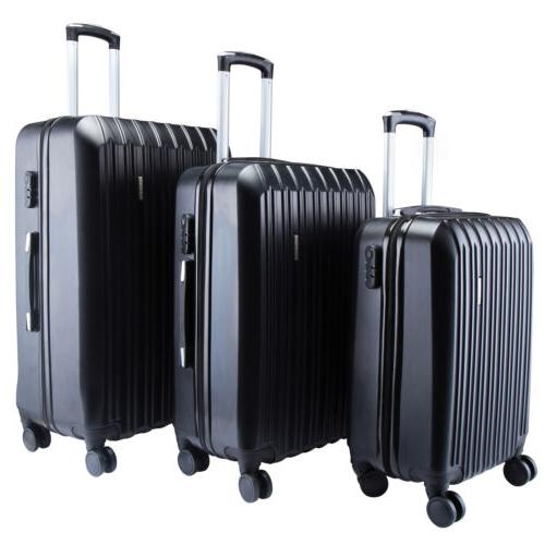 "3PCS Luggage Set Bag Suitcase Lock 20"" 24"" 28"""