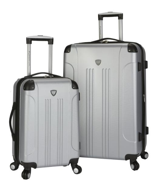 Silver Chicago 2 Side Spinner Luggage