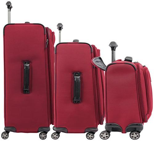 """Travelpro Skypro Lite Expandable 8-Wheel Luggage Set: 29"""", 25""""and 17"""" Compact Boarding Bag"""