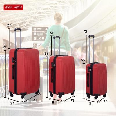Suitcase Luggage 3 Piece Travel with Password