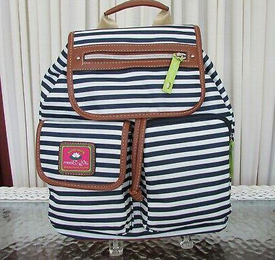 Lily Bloom Overnight Duffel Backpack Navy NWT