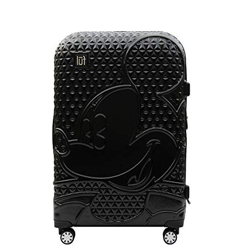 textured mickey 21in hard sided rolling luggage