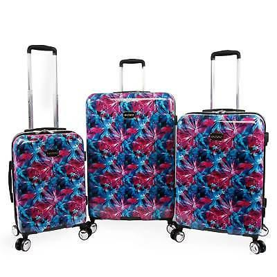 tina 3 piece hardside spinner luggage set