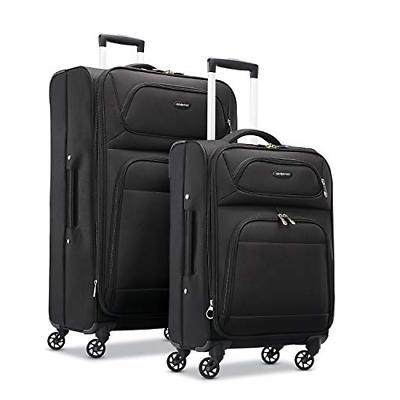transyt expandable softside luggage set with spinner