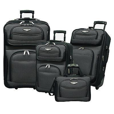 traveler choice amsterdam gray 4 piece expandable