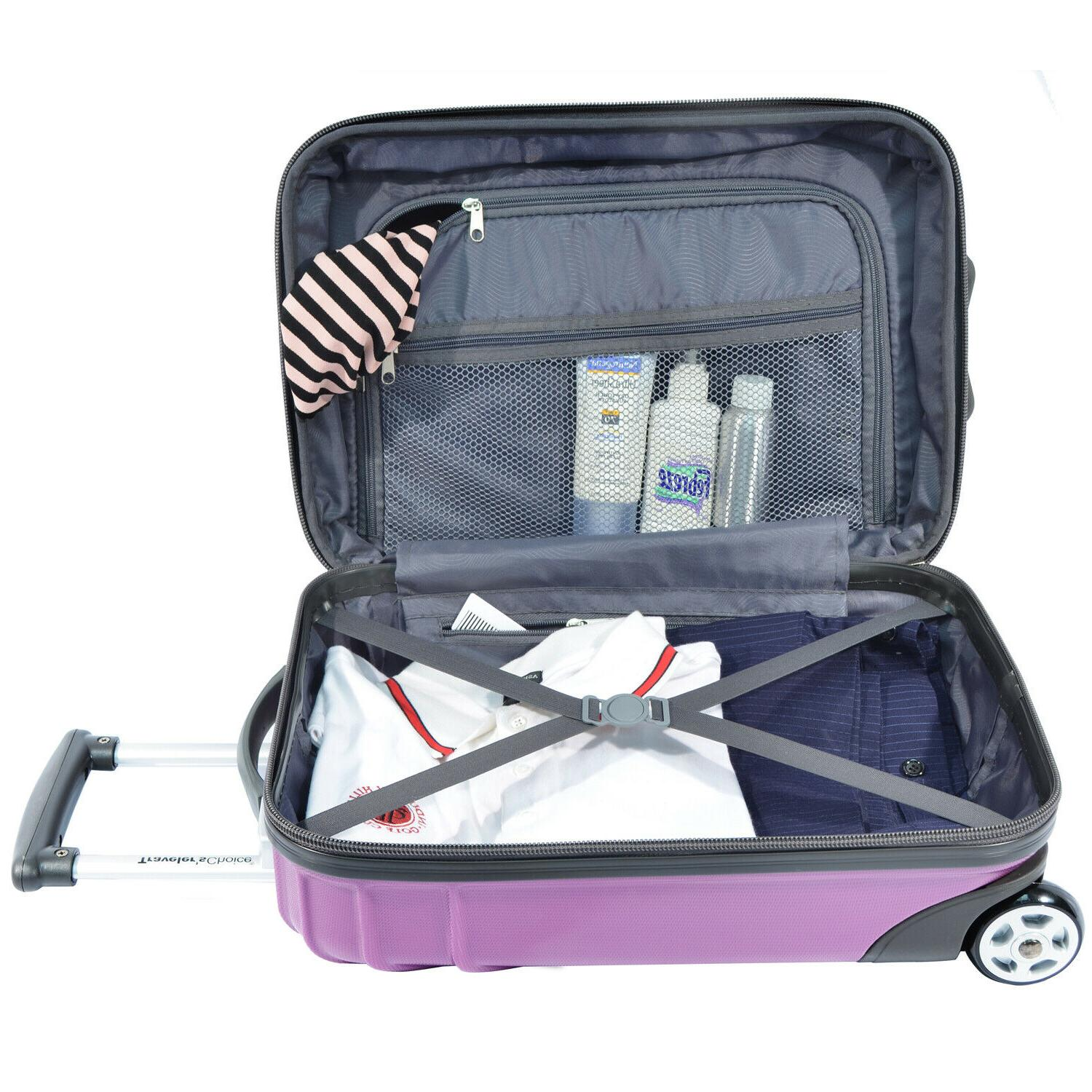Traveler's Cape Purple Expandable Spinner Luggage