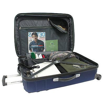 Travelers Choice Navy Carry-on Spinner Set