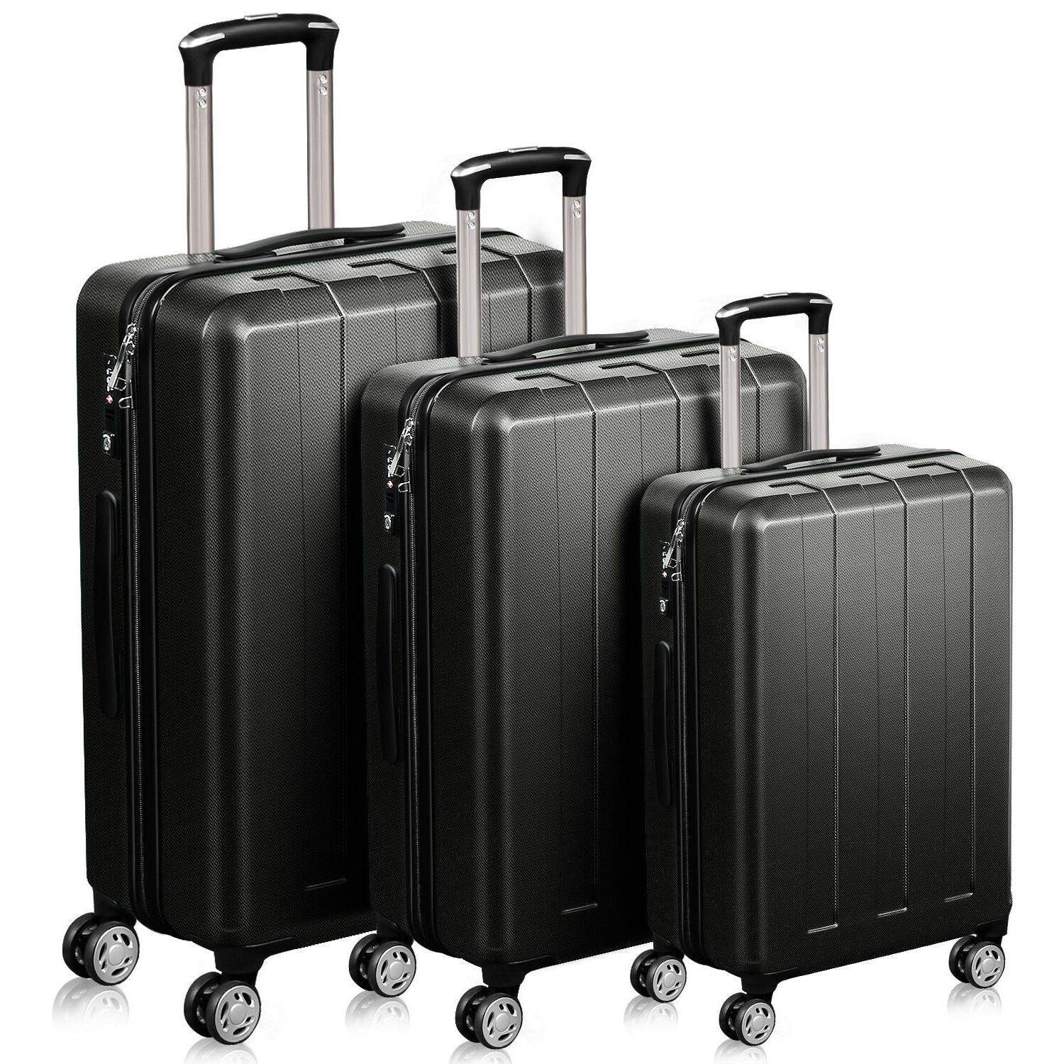 trolley sets of 3 piece pc abs