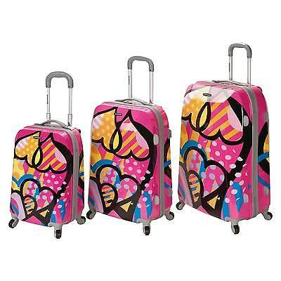 Rockland Vision Pink 3-piece Spinner Luggage Set