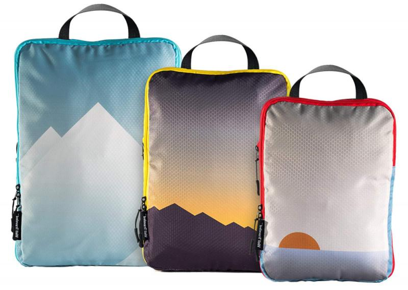 well traveled compression packing cubes set luggage