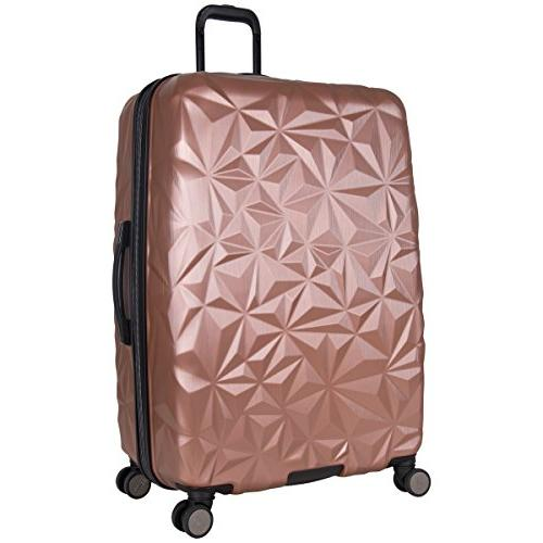 """Aimee Chic 28"""" Expandable 8-Wheel Checked Rose"""