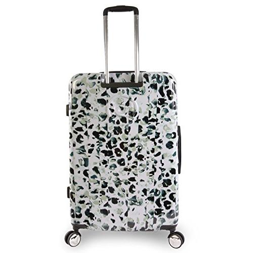 "BEBE 29"" Hardside Check Spinner, Winter Leopard"