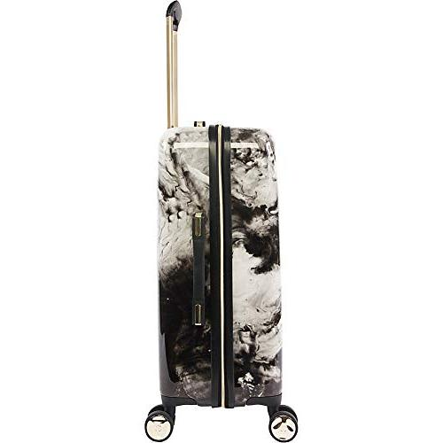 BEBE Women's Spinner Suitcase Set, Black Marble