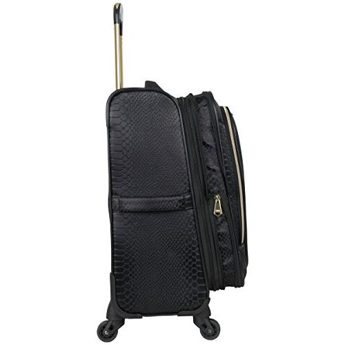 "Aimee Kestenberg 3-Piece Luggage 20"" Carry-on, 24"", 28"" , Black"