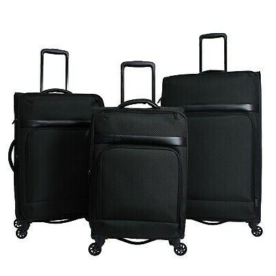 york 3 pc expandable lightweight spinner luggage