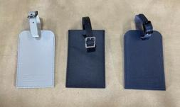 RIMOWA Leather Luggage Tags Set of 3 Black, Blue and Grey