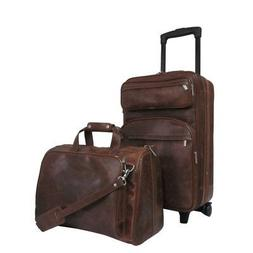 AmeriLeather Leather Two Piece Set Traveler