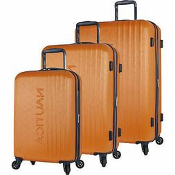 Nautica Lifeboat Classic Orange 3 Piece Hardside Spinner Lug