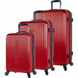Nautica Lifeboat Red Navy 3 Piece Hardside Spinner Luggage S