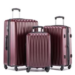 lightweight hardshell spinner luggage sets 3 pieces