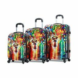 Dejuno 3-Piece Lightweight Hardside Spinner Upright Luggage